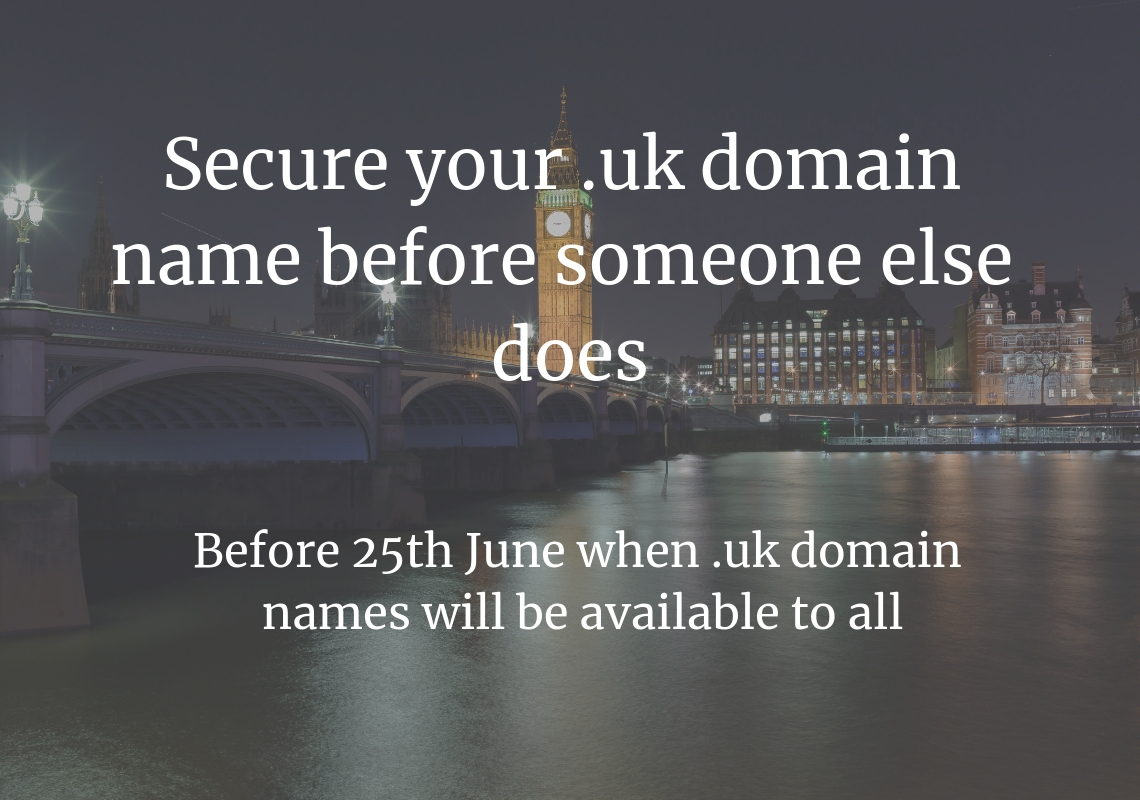 Secure your  uk domain name before someone else does