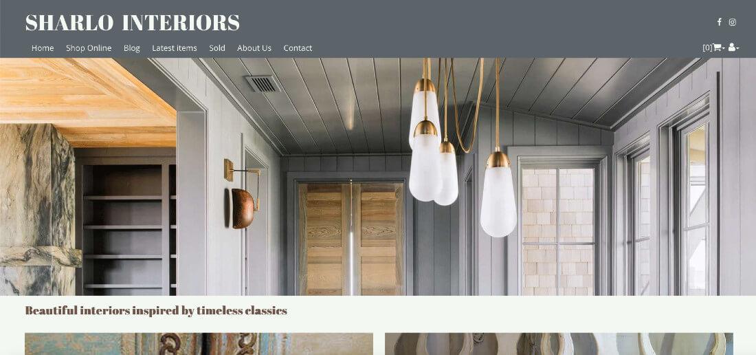 antiues web design website colour scheme farrow and ball downpipe