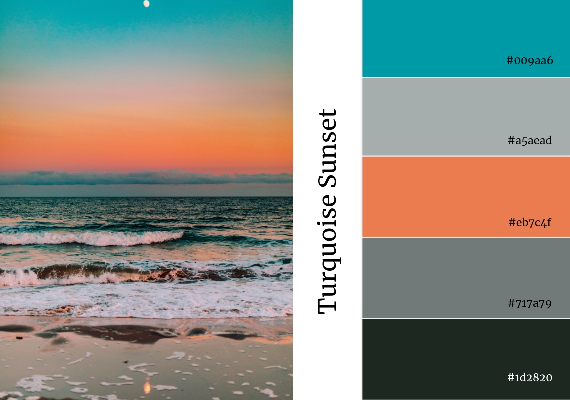 website colour scheme inspiration turquoise pink orange grey