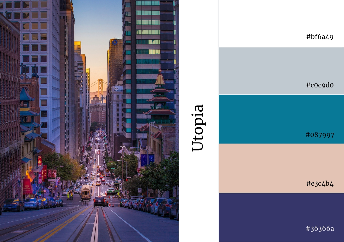 website colour scheme inspiration city grey purple