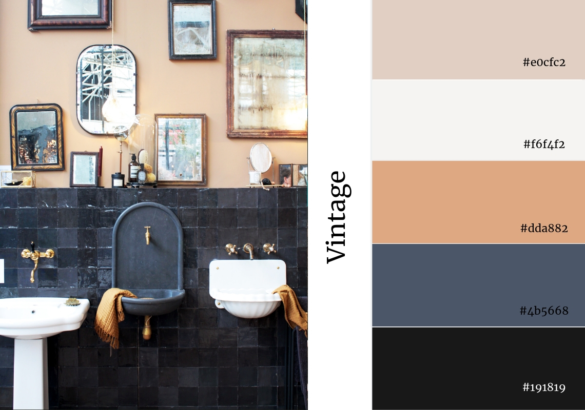 neutral colour palette vintage