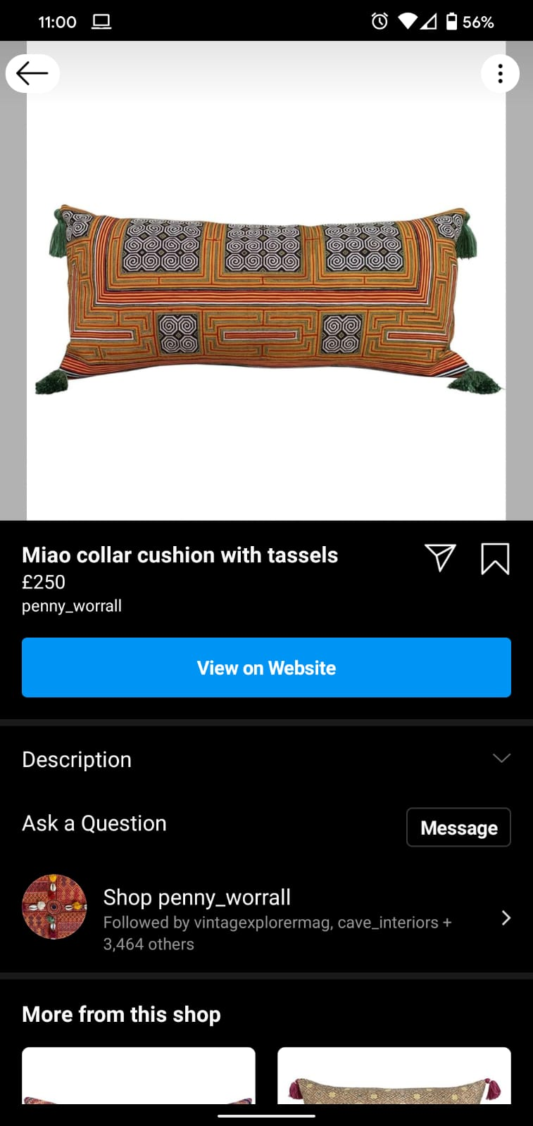 instagram shopping penny worral antiques web design
