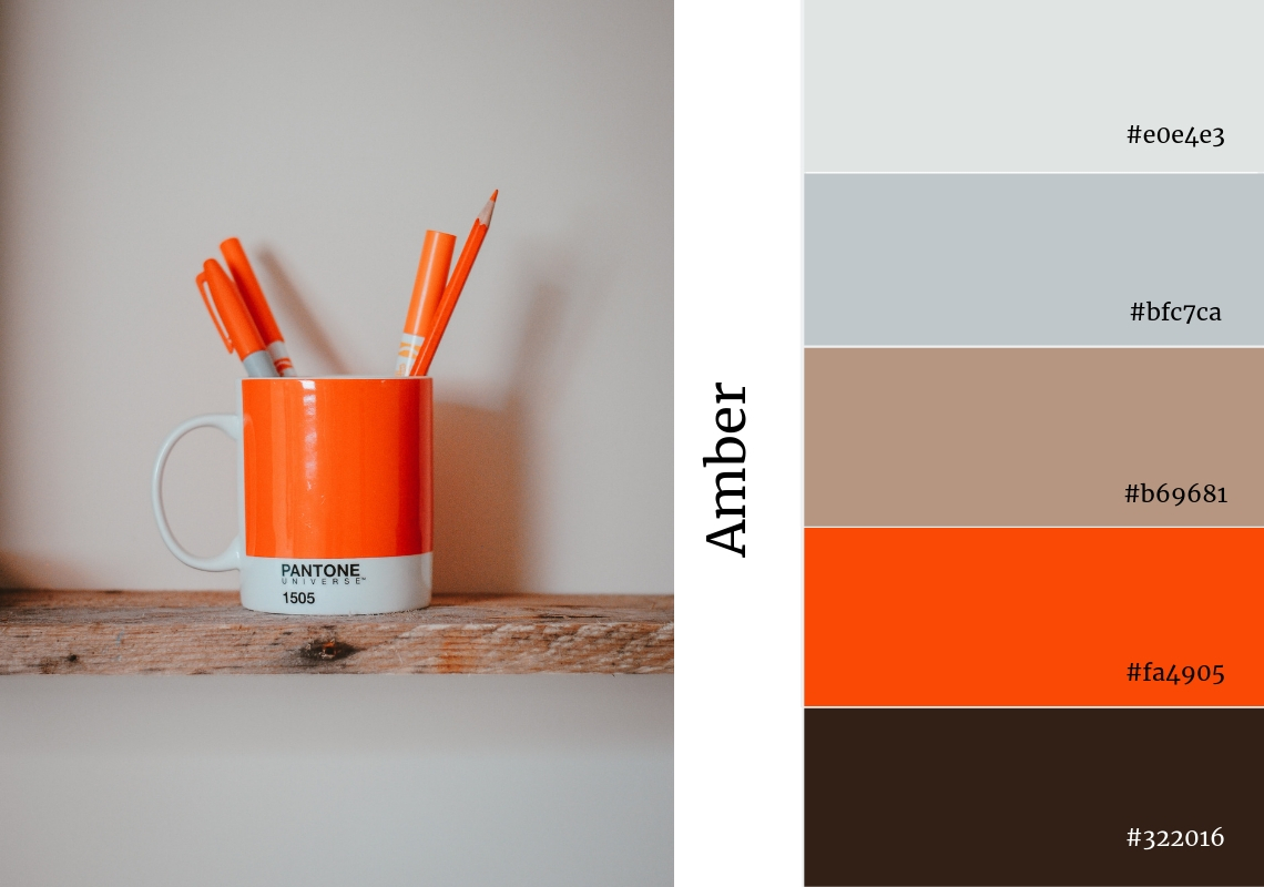 website colour scheme inspiration orange amber