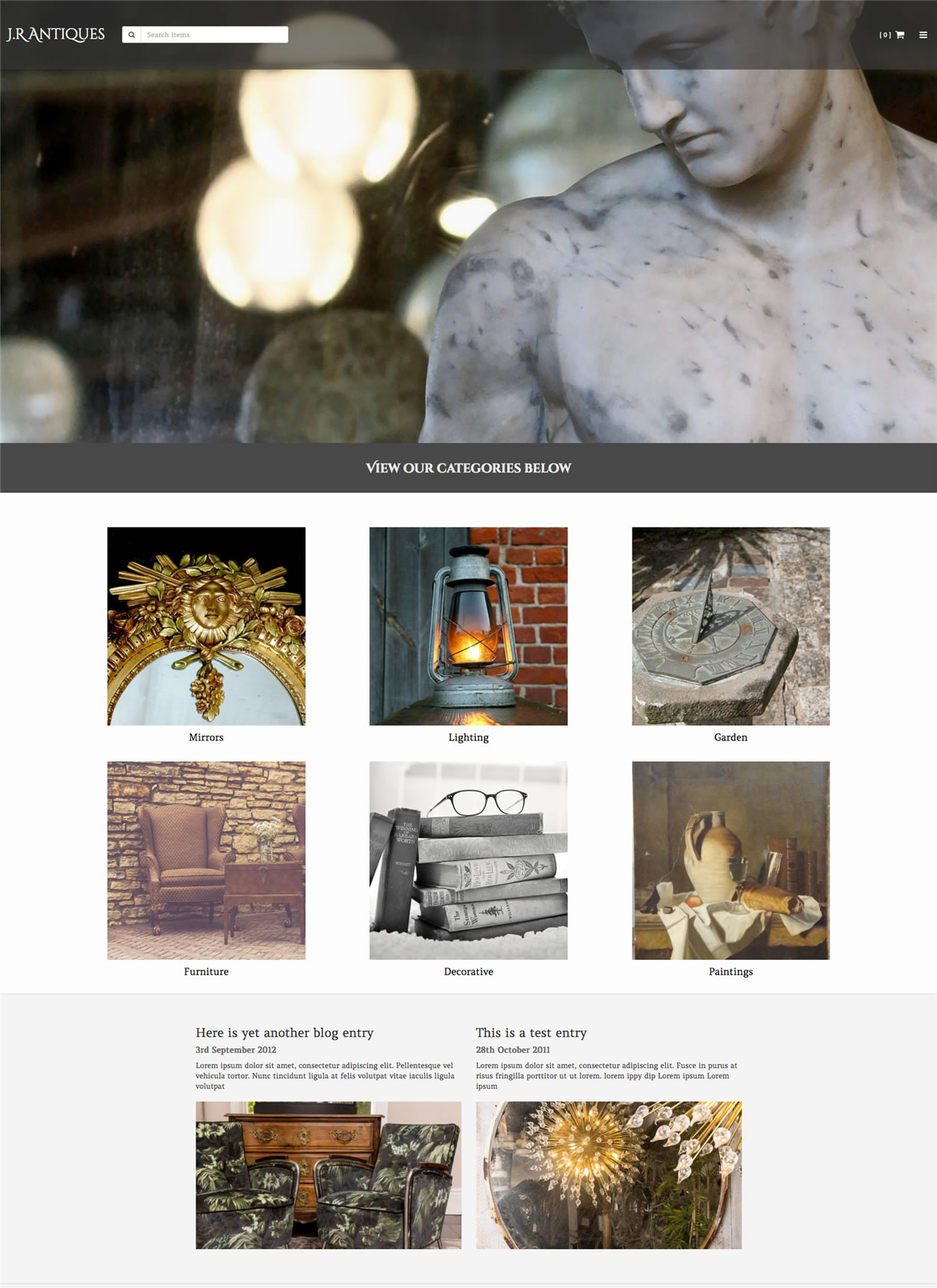 Antiques Web design examplePygmy