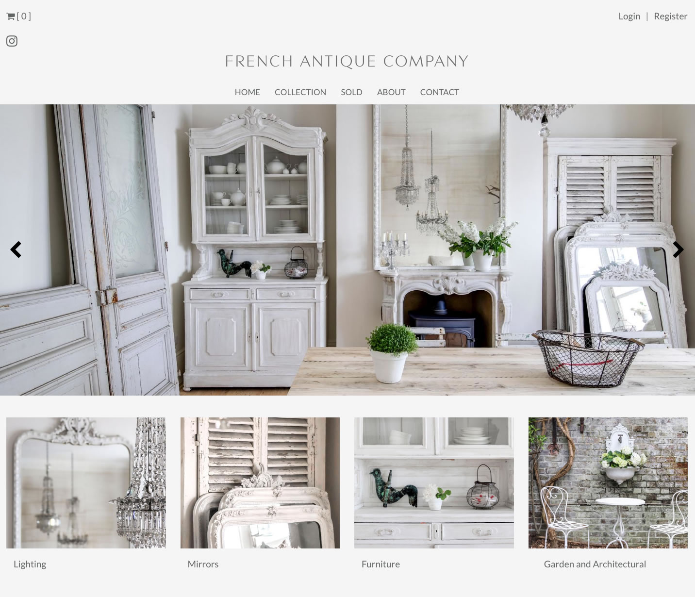 French Antique Company new website