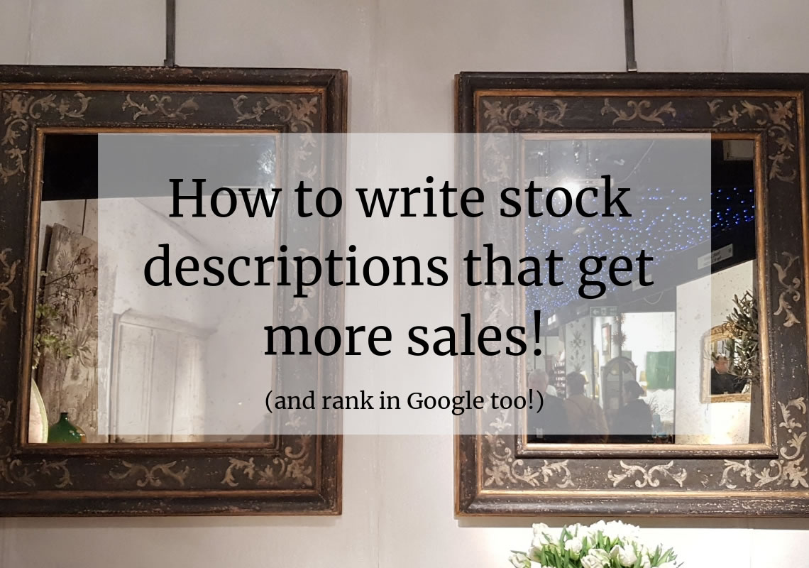 How to write item titles and descriptions that get more sales and rank in Google