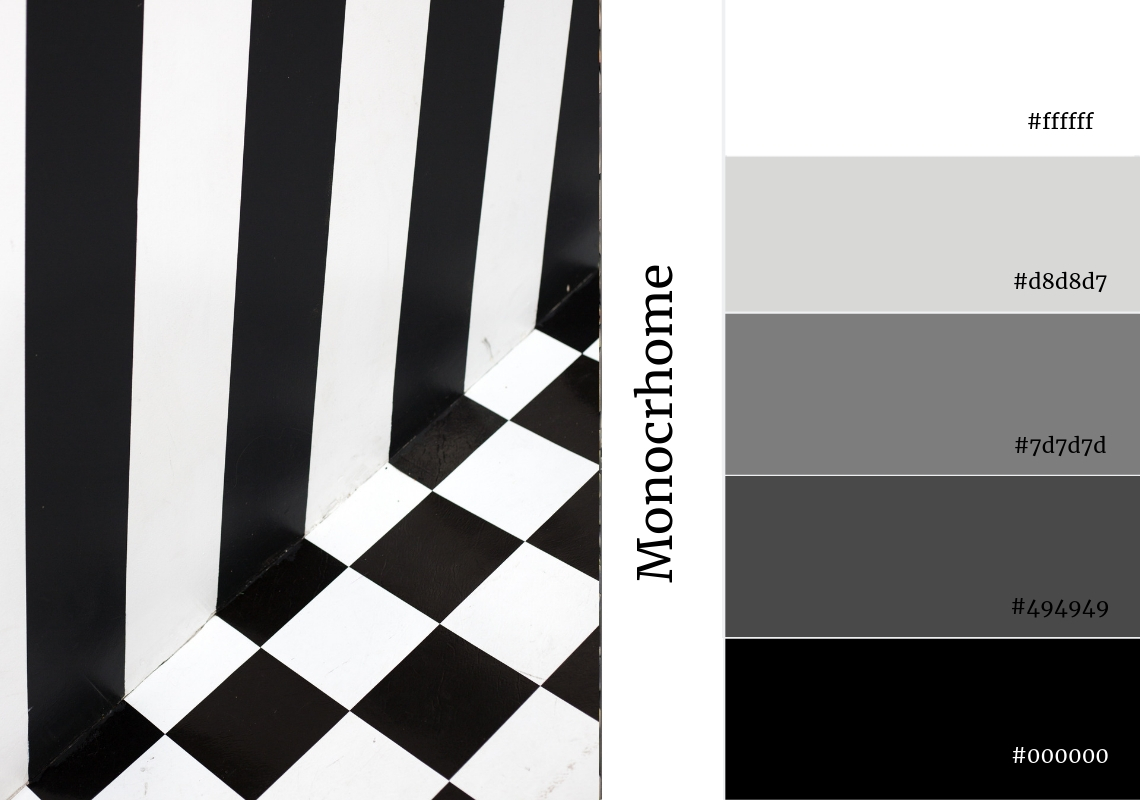 black and white colour scheme