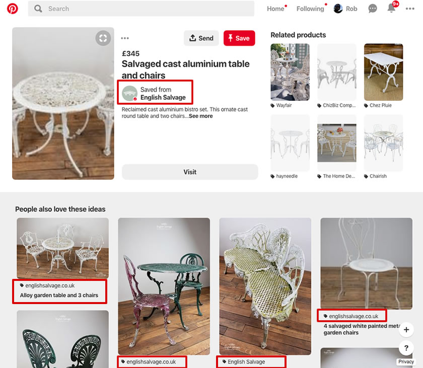 sell more antiques and vintage with pinterest