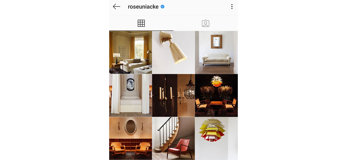 colour coordinated instagram theme