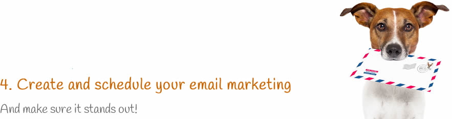 Create and schedule your email marketing